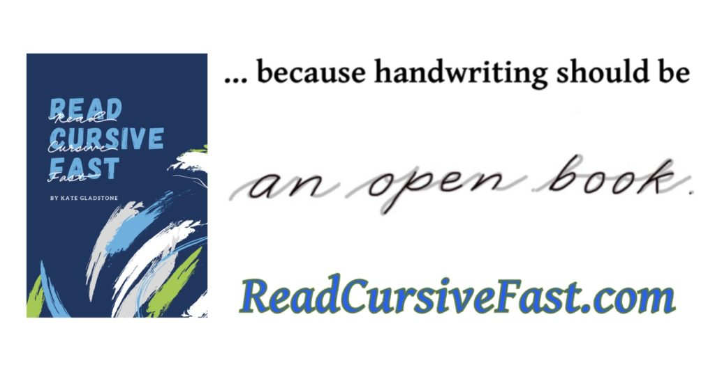 Graphic about why it alters to read cursive