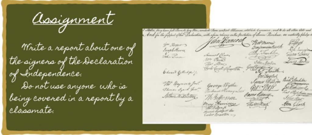 a teacher writes in cursive, or assigns work that involves reading historical documents