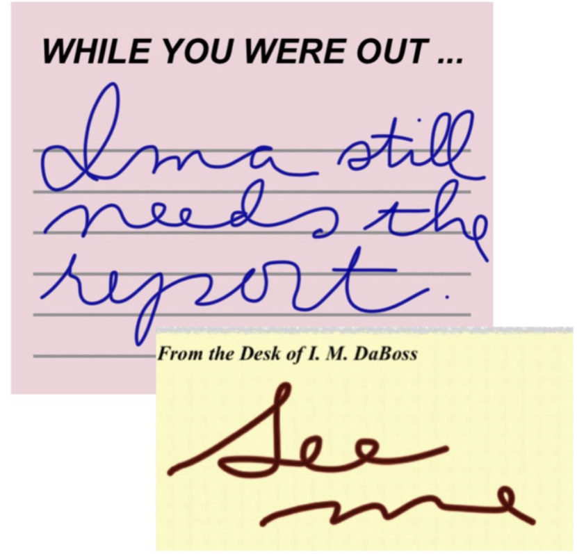 an employer, supervisor, or co-worker uses cursive