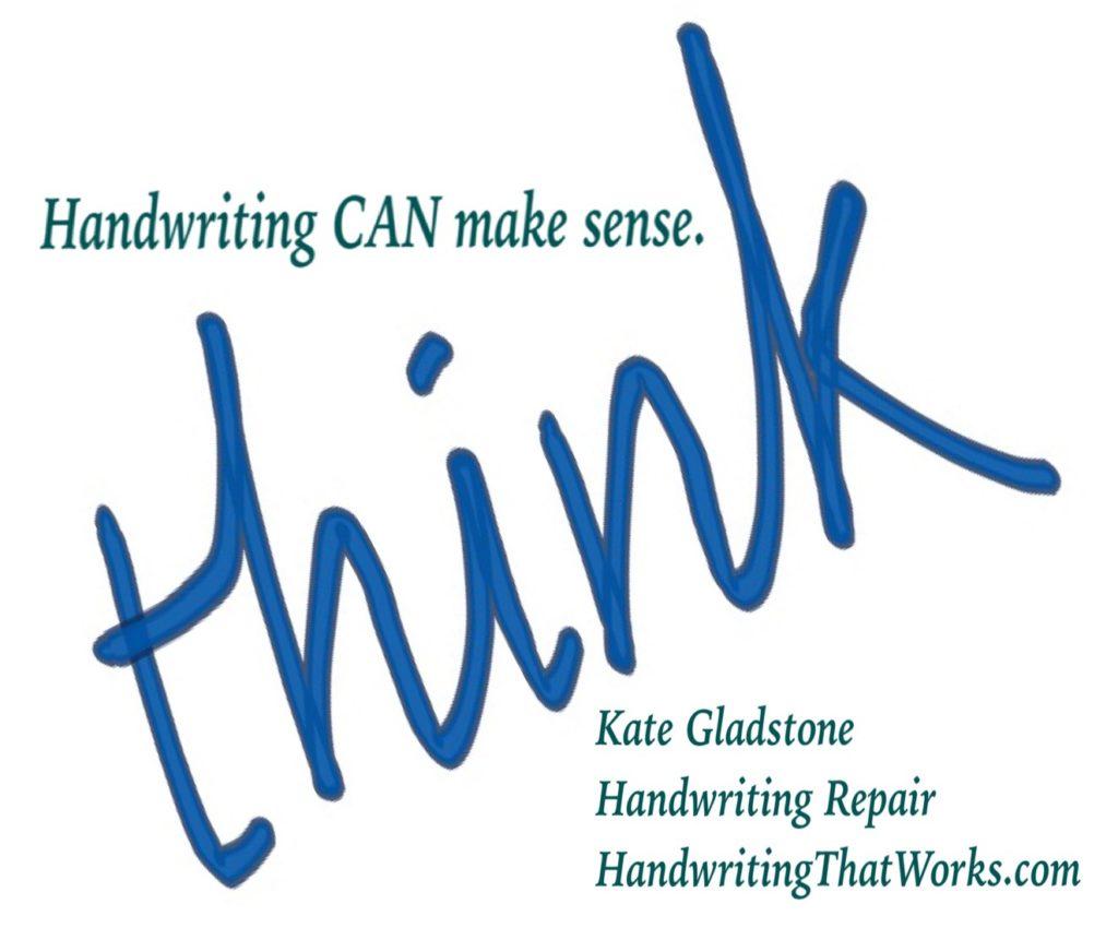 "Slogan ""Handwriting CAN make sense"""